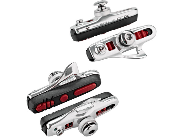 XLC Cartridge BS-R04 Road Brake Shoes ABS 4 Pieces 55mm, silver/black/red